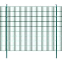 vidaXL 2D Garden Fence Panels & Posts 2008x1830 mm 50 m Green