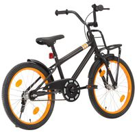 vidaXL Kids Bike with Front Carrier 20 inch Black and Orange