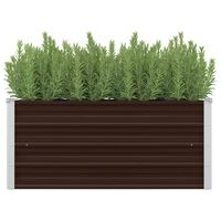 vidaXL Garden Raised Bed Brown 100x40x45 cm Galvanised Steel