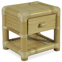 vidaXL Bedside Table 45x45x40 cm Bamboo Natural