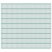 vidaXL 2D Garden Fence Panels 2.008x1.83 m 48 m (Total Length) Green