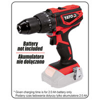 YATO Impact Drill Driver without Battery 18V 40Nm