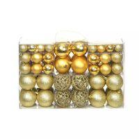 vidaXL 100 Piece Christmas Ball Set 6 cm Gold