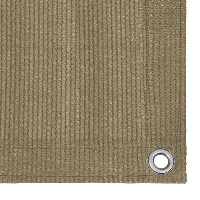 vidaXL Tent Carpet 400x400 cm Taupe