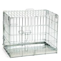 Beeztees Dog Crate 62x44x49 cm Silver