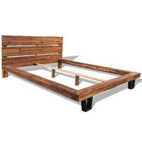 vidaXL Bed Frame Solid Acacia Wood 140x200 cm