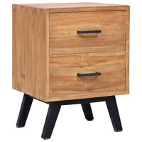vidaXL Bedside Cabinet 40x35x55 cm Solid Teak