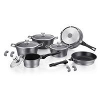 Herenthal - 10 Piece Cookware Set With Removable Handles - Silver