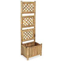 vidaXL Garden Raised Bed with Trellis Bamboo 40 cm
