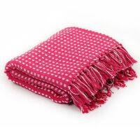 vidaXL Throw Cotton Squares 160x210 cm Pink