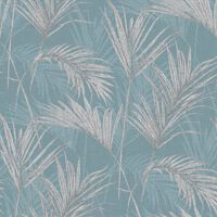 DUTCH WALLCOVERINGS Wallpaper Palm Springs Blue and Grey
