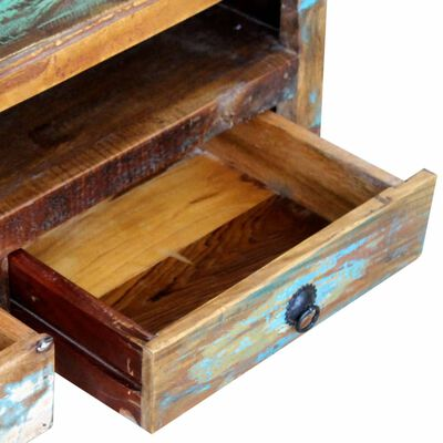 vidaXL TV Cabinet with 3 Drawers Solid Reclaimed Wood