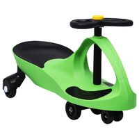 vidaXL Ride on Toy Wiggle Car Swing Car with Horn Green
