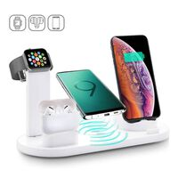 4 in 1 Wireless Charging Dock for Multiple Devices-White