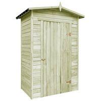vidaXL Garden Storage Shed Impregnated Pinewood