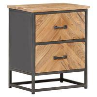 vidaXL Bedside Cabinet 40x30x50 cm Solid Acacia Wood