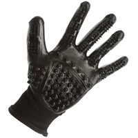 Kerbl Cleaning and Massage Gloves L Black
