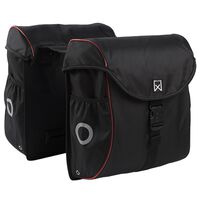 Willex Bicycle Panniers 38 L Black and Red 16105