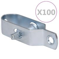 vidaXL Fence Wire Tensioners 100 pcs 100 mm Steel Silver