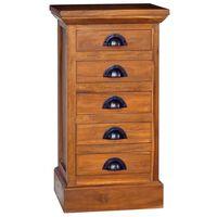 vidaXL 5-Drawer Cabinet 35x30x60 cm Solid Teak Wood