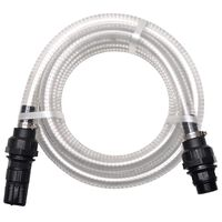 vidaXL Suction Hose with Connectors 7 m 22 mm White