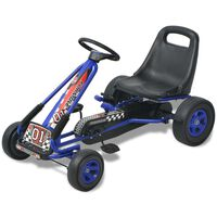 vidaXL Pedal Go Kart with Adjustable Seat Blue