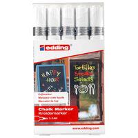 edding Chalk Marker 5pcs White 4095