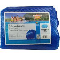 Summer Fun Summer Pool Solar Cover Oval 800x420 cm PE Blue