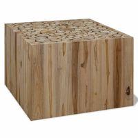 vidaXL Coffee Table Genuine Teak 50x50x35 cm