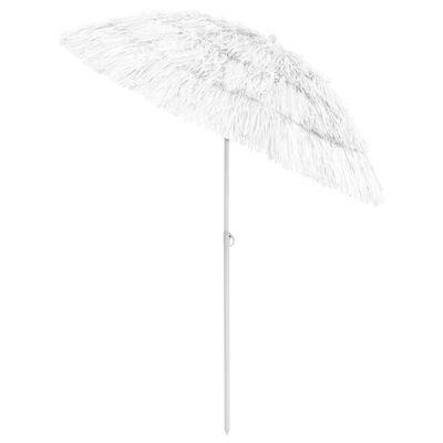 vidaXL Beach Umbrella White 180 cm