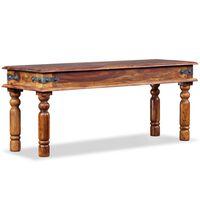 vidaXL Castle Bench Solid Sheesham Wood 110x35x45 cm