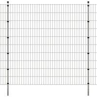 vidaXL 2D Garden Fence Panels & Posts 2008x2030 mm 42 m Silver