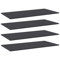 vidaXL Bookshelf Boards 4 pcs Grey 100x50x1.5 cm Chipboard
