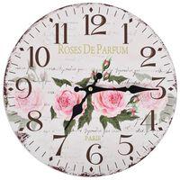 vidaXL Vintage Wall Clock Flower 30 cm