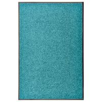 vidaXL Doormat Washable Cyan 60x90 cm