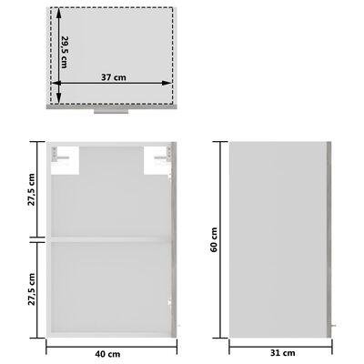 vidaXL Hanging Glass Cabinet Concrete Grey 40x31x60 cm Chipboard