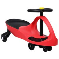 vidaXL Ride on Toy Wiggle Car Swing Car with Horn Red