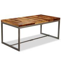 vidaXL Dining Table Solid Sheesham Wood and Steel 180 cm