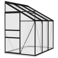 vidaXL Greenhouse Anthracite Aluminium 3.97 m³