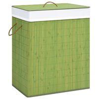 vidaXL Bamboo Laundry Basket Green 83 L