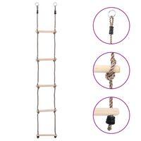 vidaXL 5-Step Ladder 210 cm Solid Pinewood