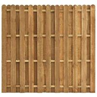 vidaXL Hit and Miss Fence Panel Pinewood 180x170 cm