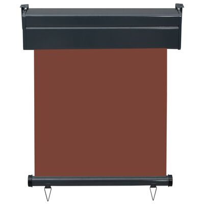 vidaXL Balcony Side Awning 60x250 cm Brown