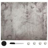 vidaXL Wall Mounted Magnetic Board Glass 50x50 cm