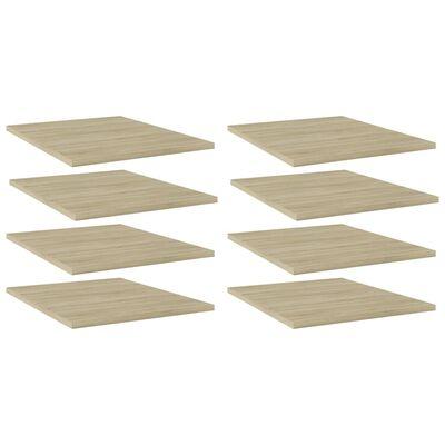 vidaXL Bookshelf Boards 8 pcs Sonoma Oak 40x50x1.5 cm Chipboard