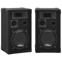 vidaXL Professional Passive Hifi Stage Speakers 2 pcs 800 W Black