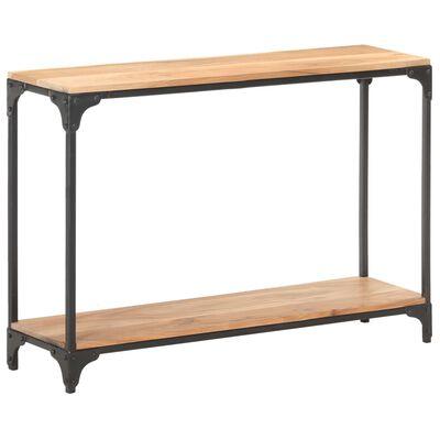 vidaXL Console Table 110x30x75 cm Solid Acacia Wood