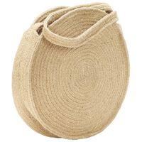 vidaXL Round Shoulder Bag Natural Handmade Jute