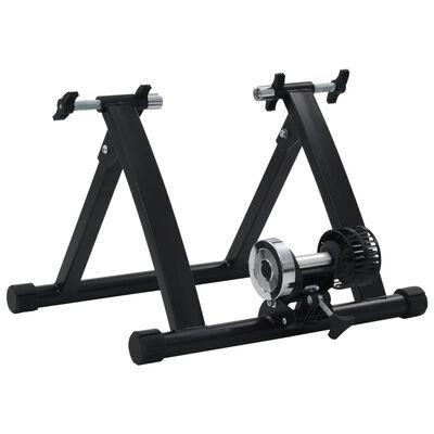"vidaXL Roller Trainer Black 26""-28"" Steel Black,"
