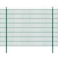 vidaXL 2D Garden Fence Panels & Posts 2008x1630 mm 42 m Green
